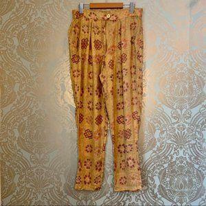 Vintage Polo Boho Patterned Trouser Casual Pants